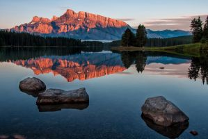 Lake Minnewanka Sunrise by James-Wheeler