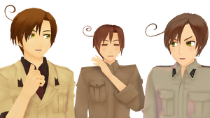 MMD - I am the real Romano by Ayumichigolove