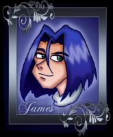 James silver frame by kaitlynrager