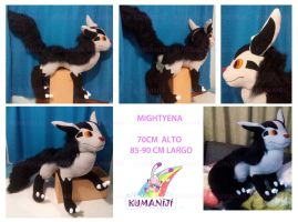 Mightyena plush finished by chocoloverx3