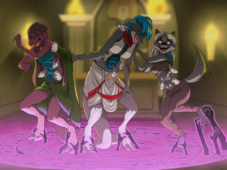 Tickling Tomb [COMMISSION] by MeteorREB0RN