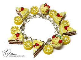 "Bracelet ""Lemon"" by OrionaJewelry"