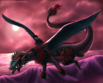 Nature Dragon Evening Flight by fluffycawwot