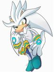 Silver the hedgehog ( Colored ) by Omiza