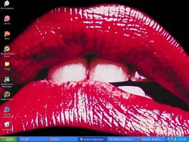 Rocky Horror Lips Desktop by BigBroflovskiFan