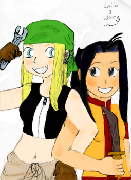 Winry Rockbell and Laila Seiren by Nevermore999