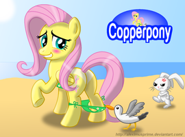 Coppertone Fluttershy by AleximusPrime