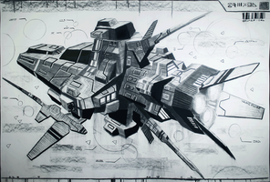 Assault frigate on charcoal by myname1z4xs