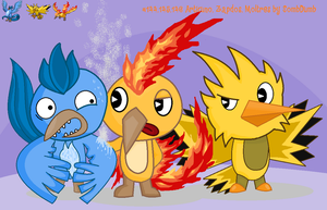 Articuno, Zapdos, Moltres HTF by SomeDumbDeviant