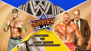 SummerSlam : Brock Lesnar vs. John Cena Wallpaper by MarcusMarcel