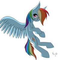 Silly silly Rainbow Dash by KARAZ159