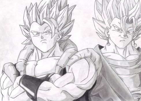 Gogeta and Vegeto by Eduar14