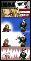 Pandaman VS Edward Elric by TSoutherland