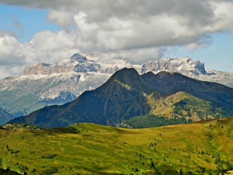 View from Giau Pass by Sergiba