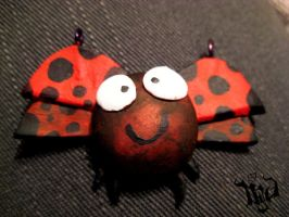 Lady Bug Necklace by KindLittleMoon