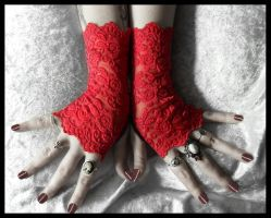 Moira Lace Fingerless Gloves by ZenAndCoffee