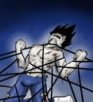Vegeta Bondage by CrazyAndHyper
