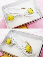 Chick Earphones by KralleCakes