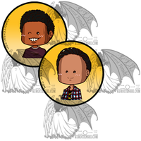 Community Busts Small Buttons by kuroitenshi13