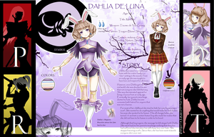 RWBY OC: Dahlia Reference by BlissClouds