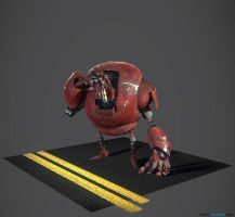 Project Olympus: Robot02 - Red by 4f6f3b