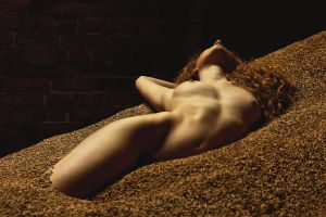 Jen Somerfield in barley 3 by NickGiles