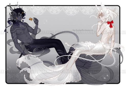 Bride and Groom Nyhmers [Auction][CLOSED] by lexadoptables
