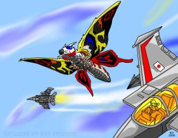 Mothra for Mislaid-Isis by AlmightyRayzilla