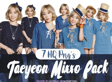 [PNG PACK] Taeyeon Mixxo Pngs by EmyPhany