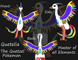 Quetelia- The Quetzel Pokemon by Piplup-Luv