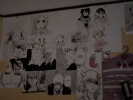 The drawings on my wall by annaxichigo