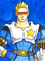 Sketchcard MvsC Captain Commando by fedde
