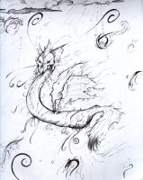 -Pen Sketch- Gust Dragon by FourBadQuans