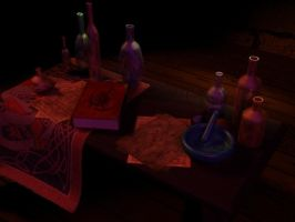 Alchemist Work table by xxAlexaBlack