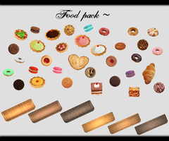 [MMD] Food Pack DL ~ by o-DeadSilverVirus-o