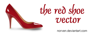 The Red Shoe Vector by Norven