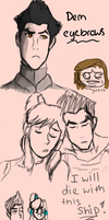 My first Legend of Korra dump by Akadafeathers