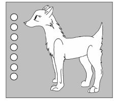 Wolf Lineart: Short Tail by oOquaaktacularOo