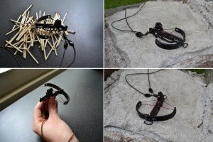 Crossbow necklace by inga-h