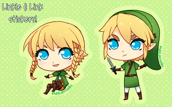 Linkle and Link Stickers! by KayouVirus