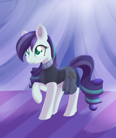 Regular Pony Drawing #15 - Coloratura by XDuskStarX