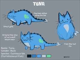 Tuna the Catosaurish by BiscuitCat