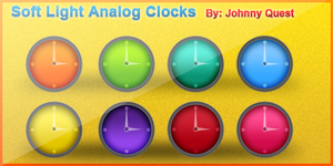 Soft Light Analog Clocks by jquest68