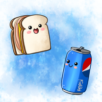 Cute Food- Sandwich and Pepsi by PPGxRRB-FAN