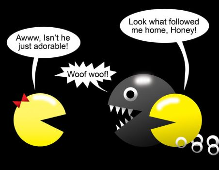 Pacman Funny 12 by Inspectornills