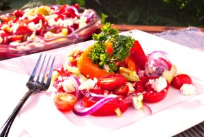 Heirloom Tomato Salad by noregretting91