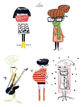 Fast characters by LeoniAnnalisa
