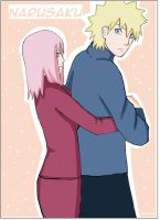 NARUSAKU DRAWING  One year on Deviant Art by NaruSasuSaku91