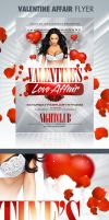 Valentine Affair Party Flyer by CandieC