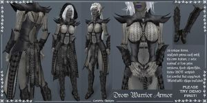 Drow Warrior Armor set by Elvina-Ewing